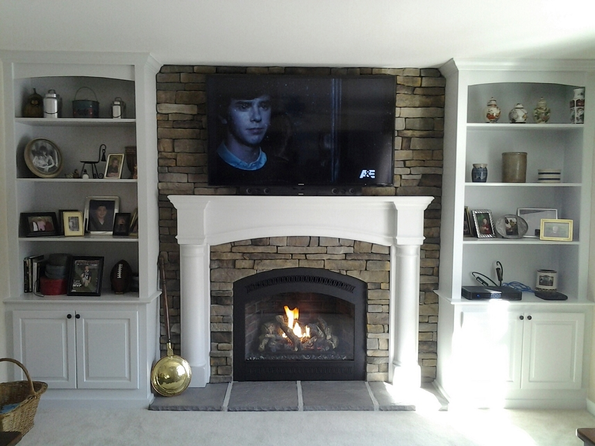Gas Fireplace peninsula gas fireplace : Firestarter's Custom Fireplaces & Stoves, Inc. - Custom Fireplaces ...