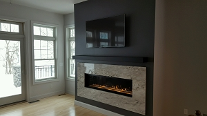 Delightful Wonderful Linear Fireplace Surrounds Gallery   Best Inspiration Home .